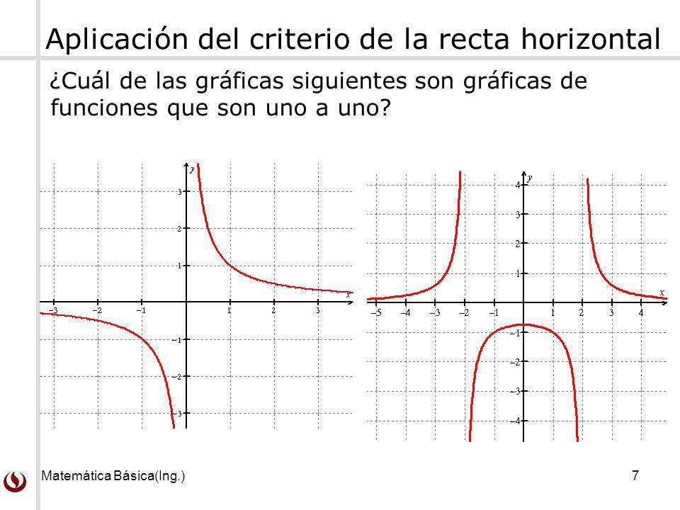 Aplicación del criterio de la recta horizontal