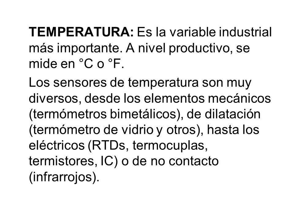 TEMPERATURA: Es la variable industrial más importante