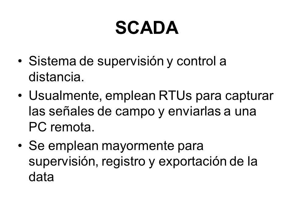 SCADA Sistema de supervisión y control a distancia.