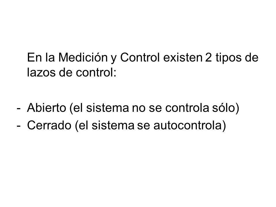 En la Medición y Control existen 2 tipos de lazos de control: