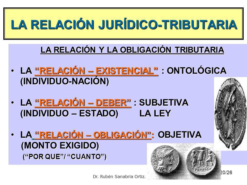 LA RELACIÓN JURÍDICO-TRIBUTARlA