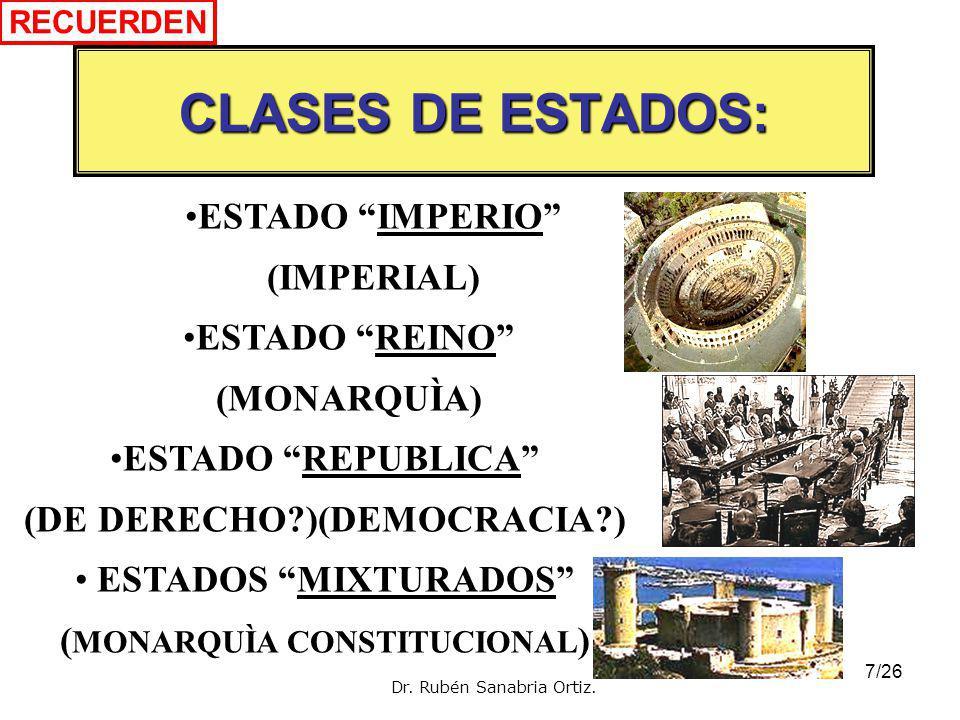 CLASES DE ESTADOS: ESTADO IMPERIO (IMPERIAL)