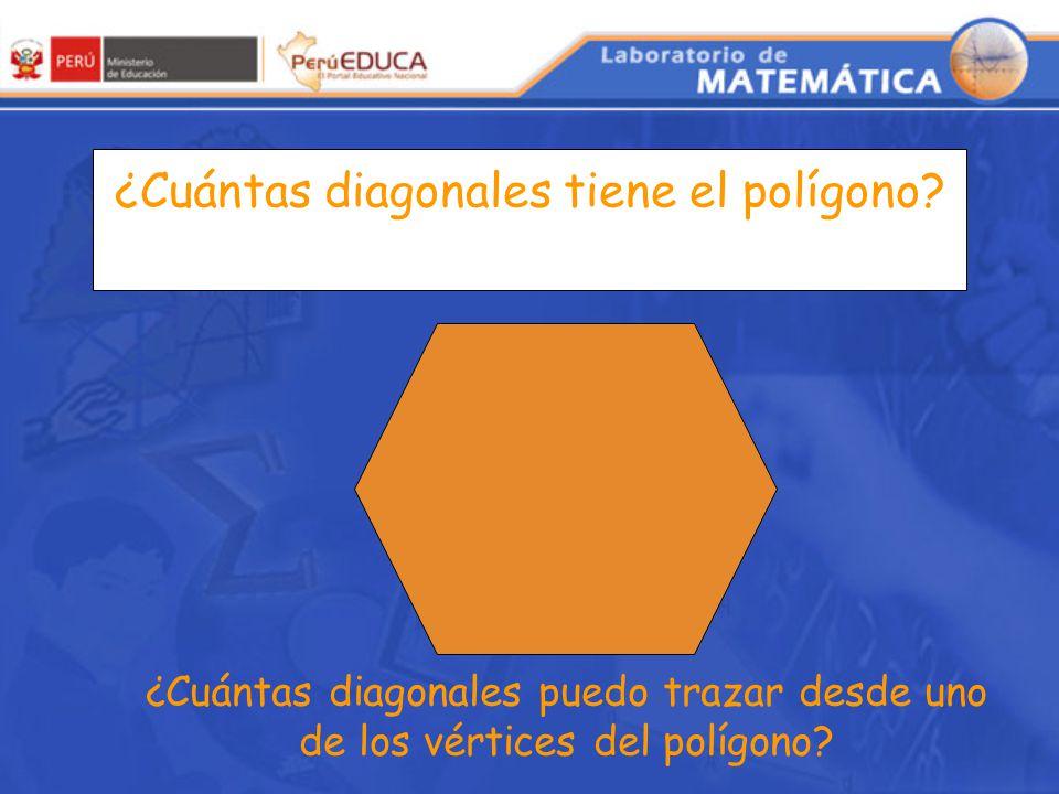 ¿Cuántas diagonales tiene el polígono