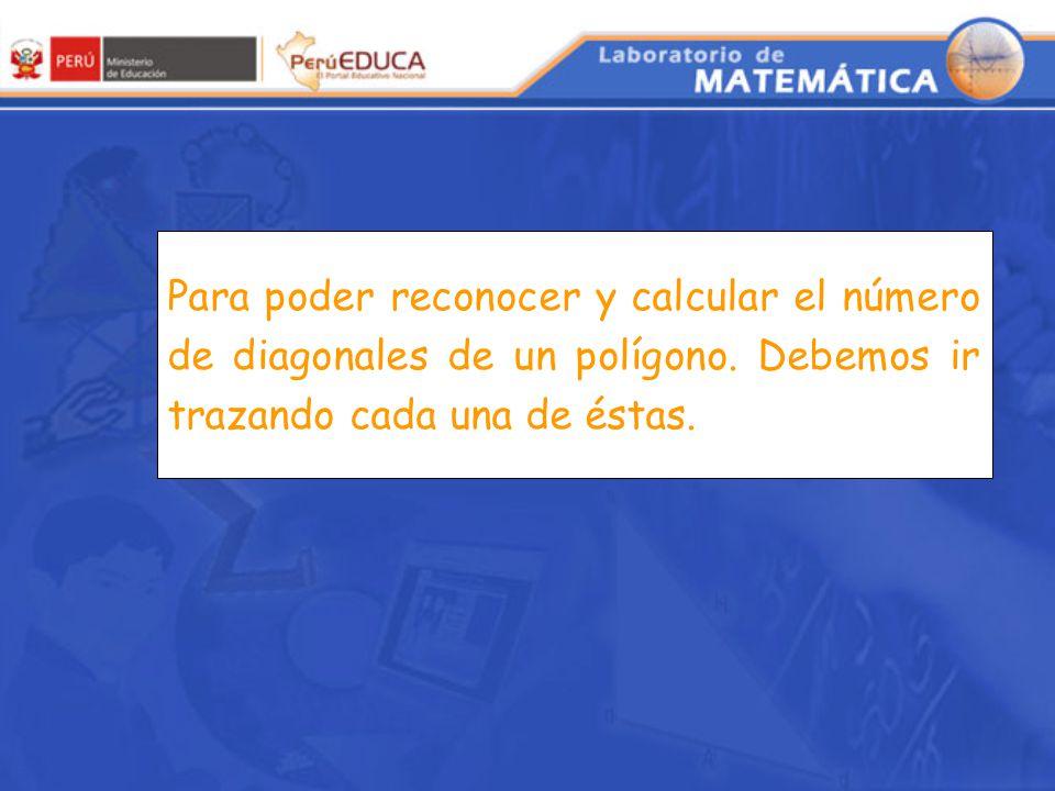 Para poder reconocer y calcular el número de diagonales de un polígono