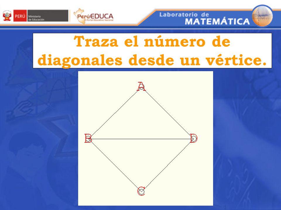 Traza el número de diagonales desde un vértice.