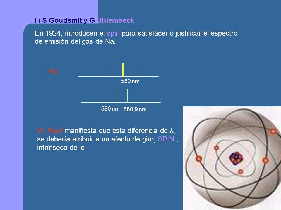 ll) S Goudsmit y G Uhlembeck