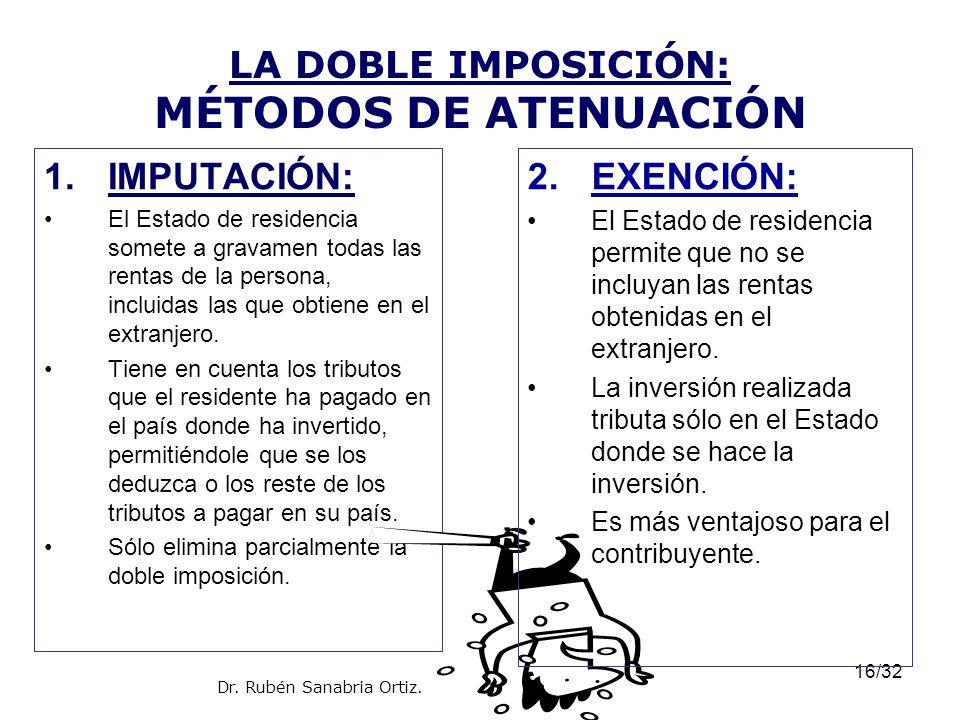 LA DOBLE IMPOSICIÓN: MÉTODOS DE ATENUACIÓN