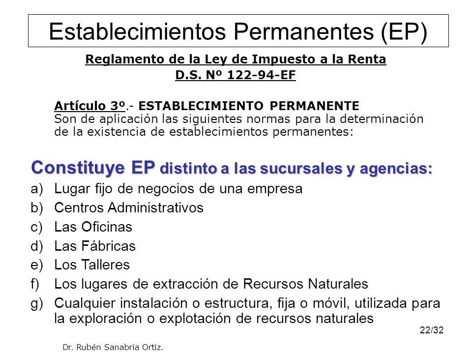 Establecimientos Permanentes (EP)