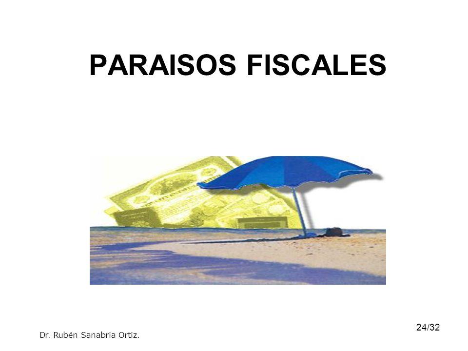 PARAISOS FISCALES Dr. Rubén Sanabria Ortiz.