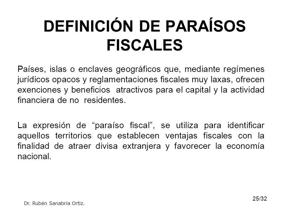 DEFINICIÓN DE PARAÍSOS FISCALES