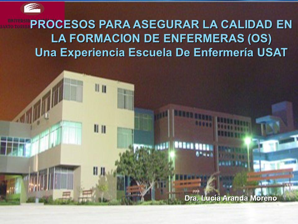 PROCESOS PARA ASEGURAR LA CALIDAD EN LA FORMACION DE ENFERMERAS (OS) Una Experiencia Escuela De Enfermería USAT