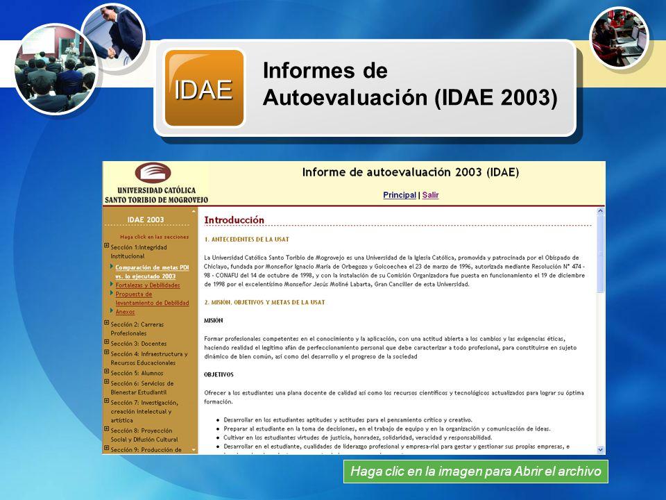 IDAE Recursos Multimedia Informes de Autoevaluación (IDAE 2003)