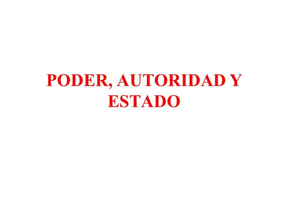 PODER, AUTORIDAD Y ESTADO