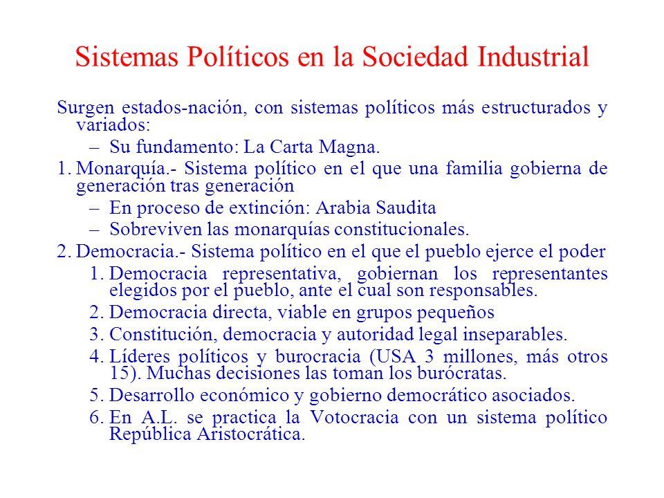Sistemas Políticos en la Sociedad Industrial
