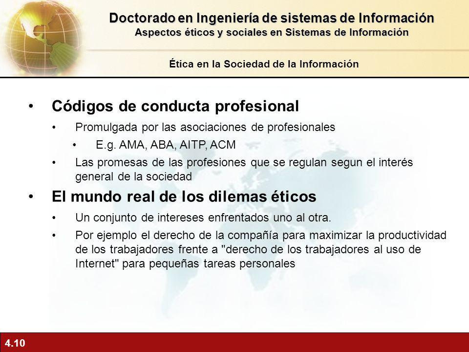 Códigos de conducta profesional