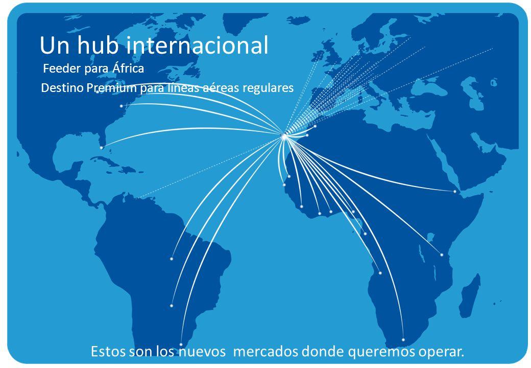 Un hub internacional Feeder para África. Destino Premium para líneas aéreas regulares.