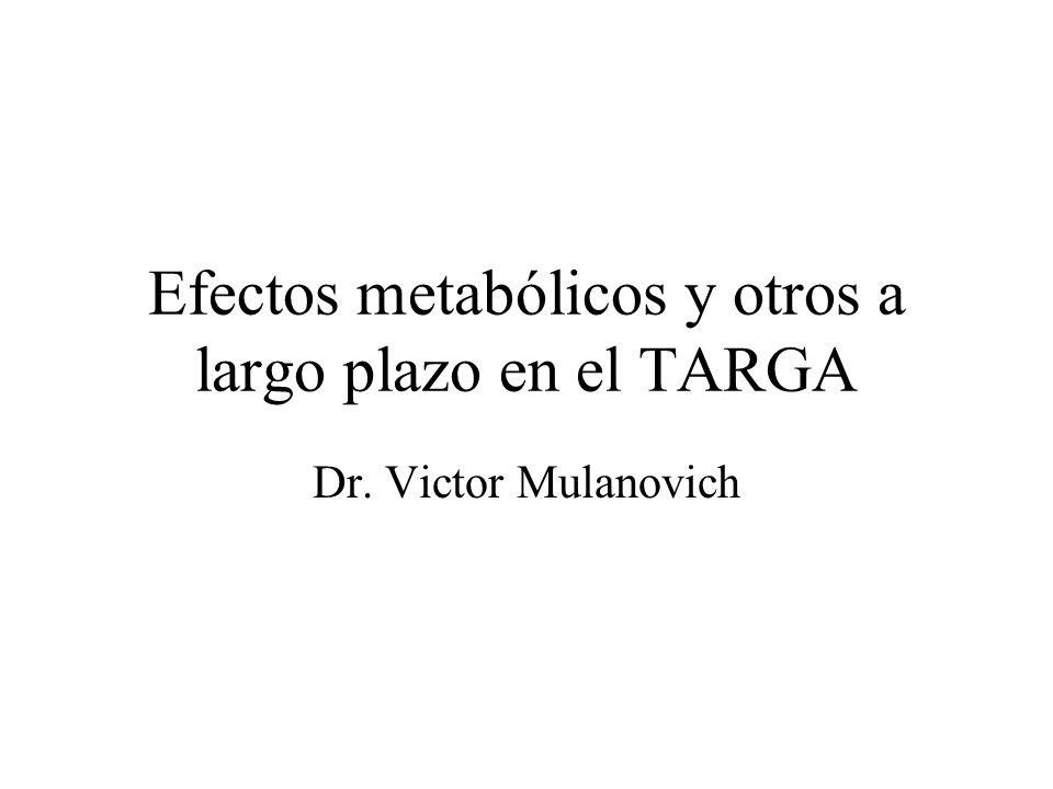 Efectos metabólicos y otros a largo plazo en el TARGA