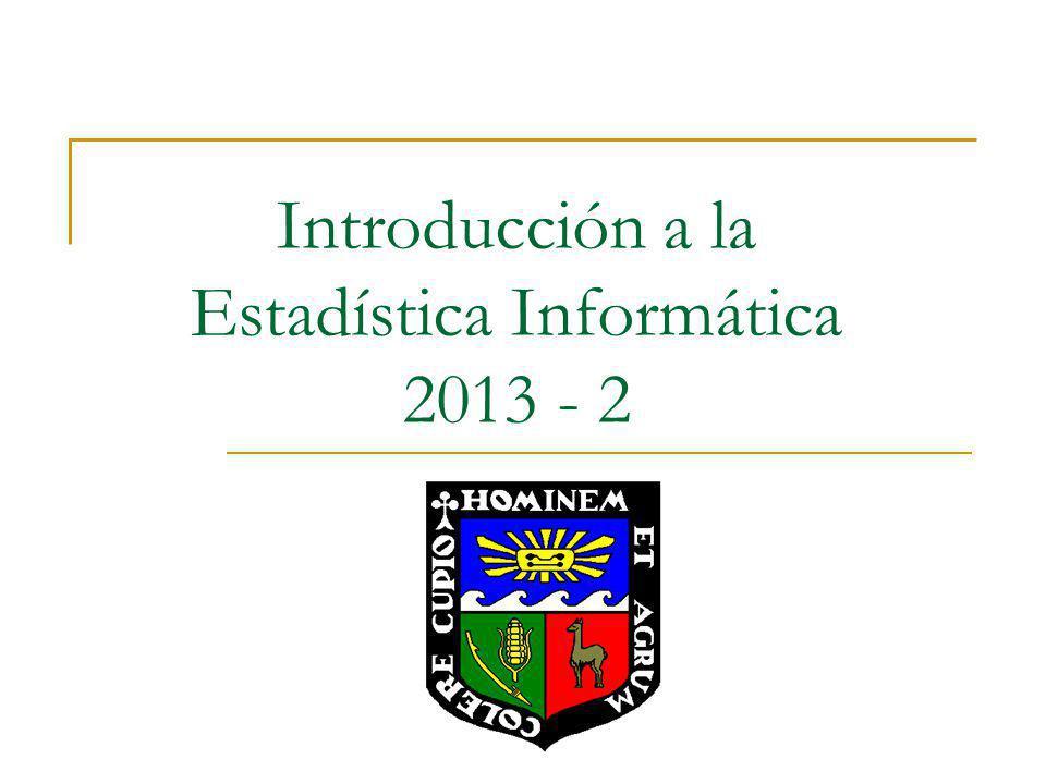 Introducción a la Estadística Informática 2013 - 2