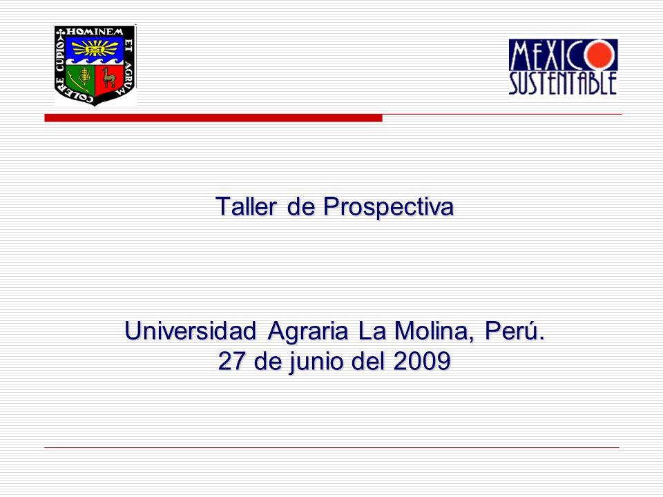Taller de Prospectiva Universidad Agraria La Molina, Perú