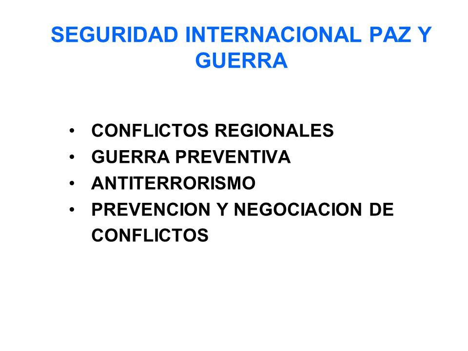 SEGURIDAD INTERNACIONAL PAZ Y GUERRA