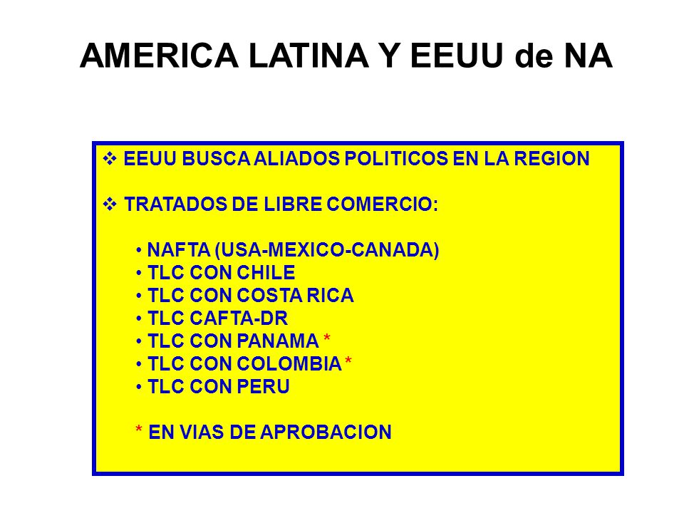 AMERICA LATINA Y EEUU de NA