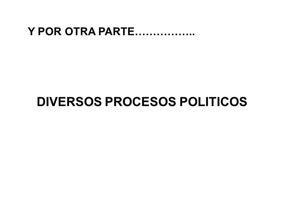 DIVERSOS PROCESOS POLITICOS