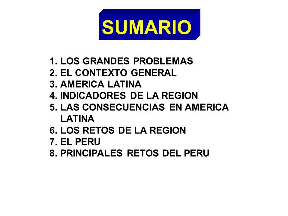 SUMARIO LOS GRANDES PROBLEMAS EL CONTEXTO GENERAL AMERICA LATINA