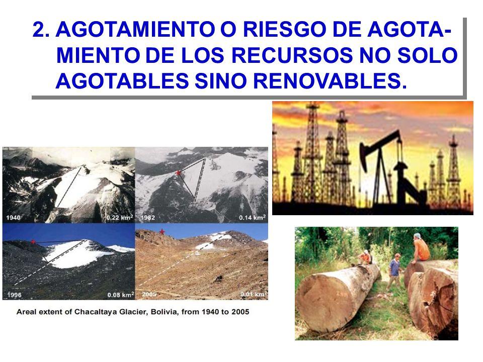 2. AGOTAMIENTO O RIESGO DE AGOTA-