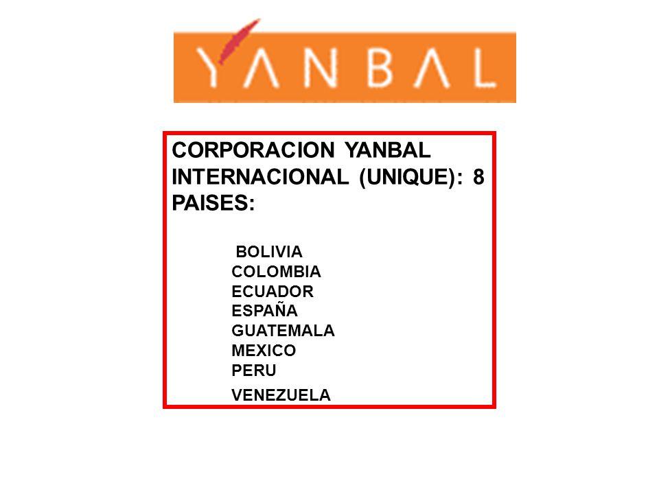 CORPORACION YANBAL INTERNACIONAL (UNIQUE): 8 PAISES: