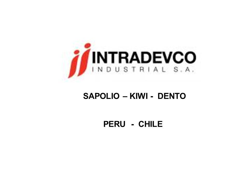 SAPOLIO – KIWI - DENTO PERU - CHILE