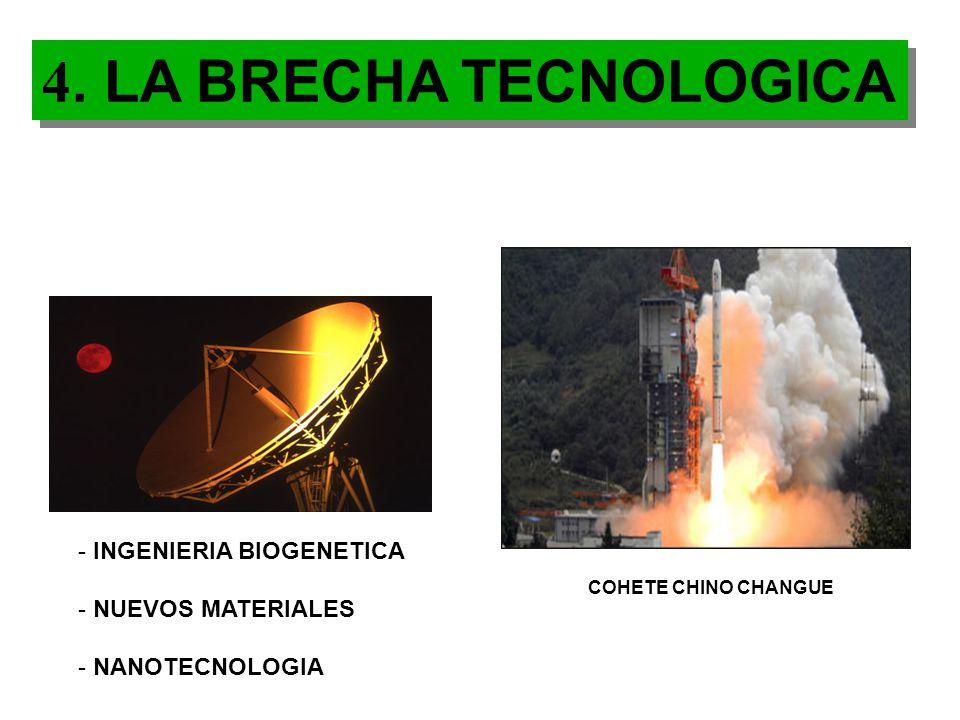 4. LA BRECHA TECNOLOGICA INGENIERIA BIOGENETICA NUEVOS MATERIALES
