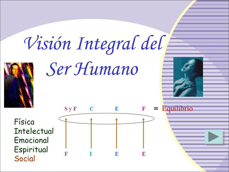 Visión Integral del Ser Humano = Equilibrio Física Intelectual