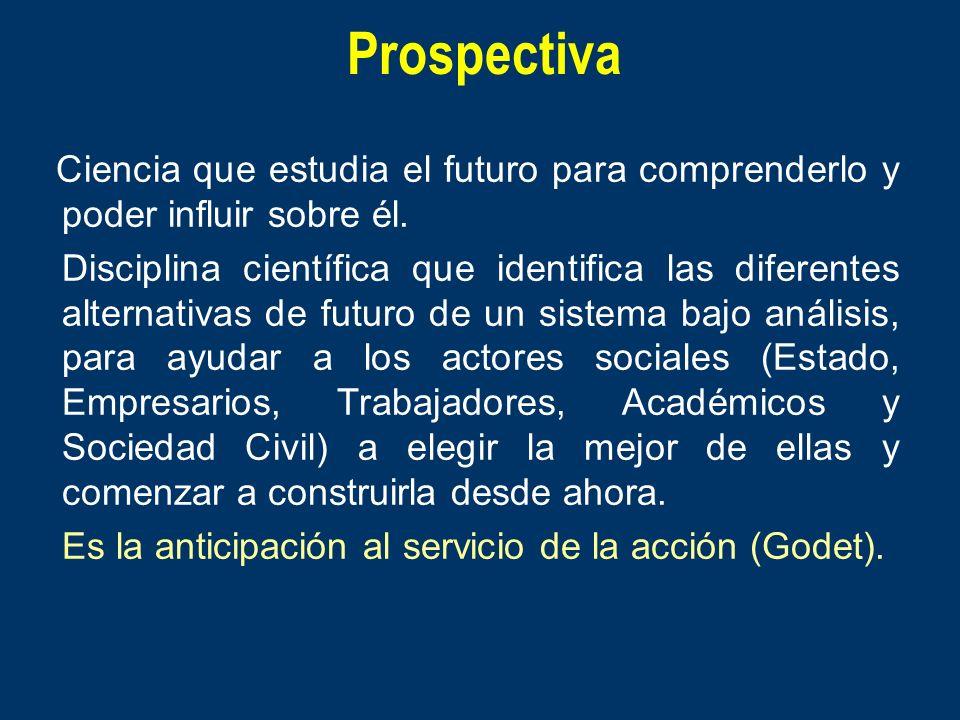 ProspectivaCiencia que estudia el futuro para comprenderlo y poder influir sobre él.