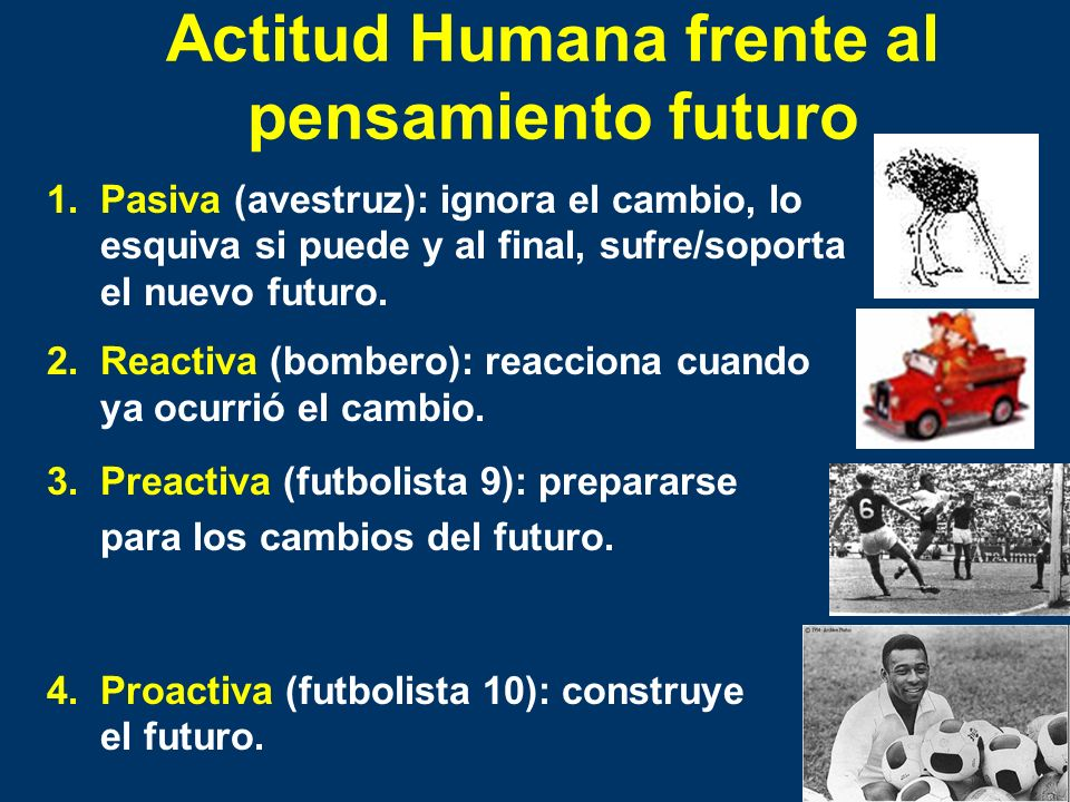 Actitud Humana frente al pensamiento futuro