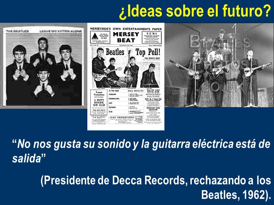 ¿Ideas sobre el futuro No nos gusta su sonido y la guitarra eléctrica está de salida