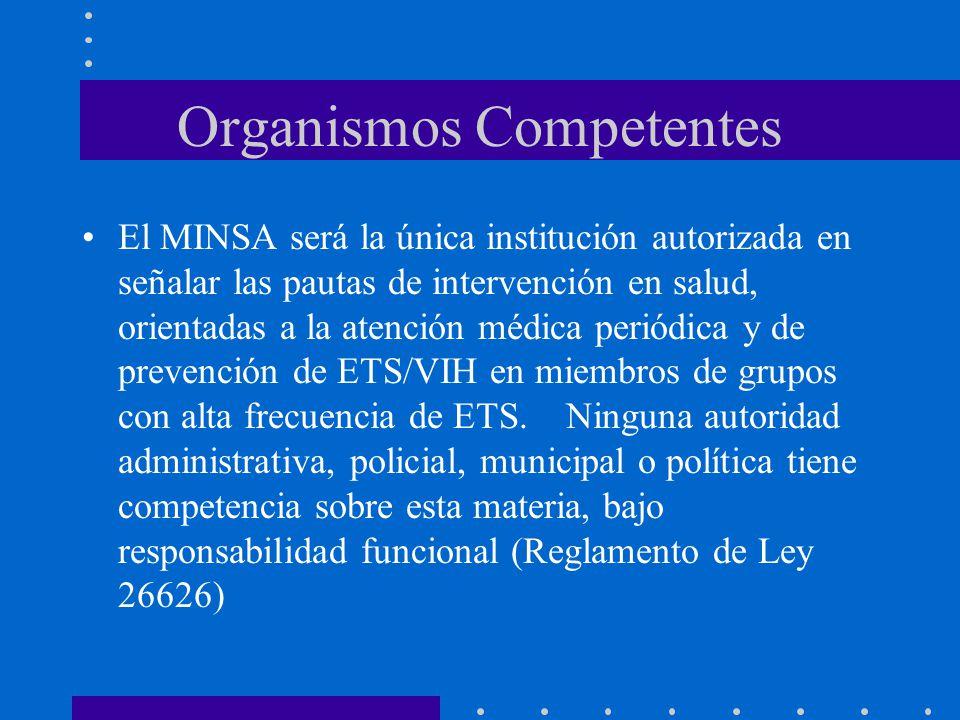 Organismos Competentes