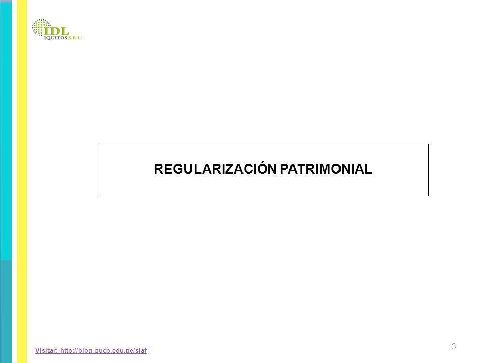 REGULARIZACIÓN PATRIMONIAL