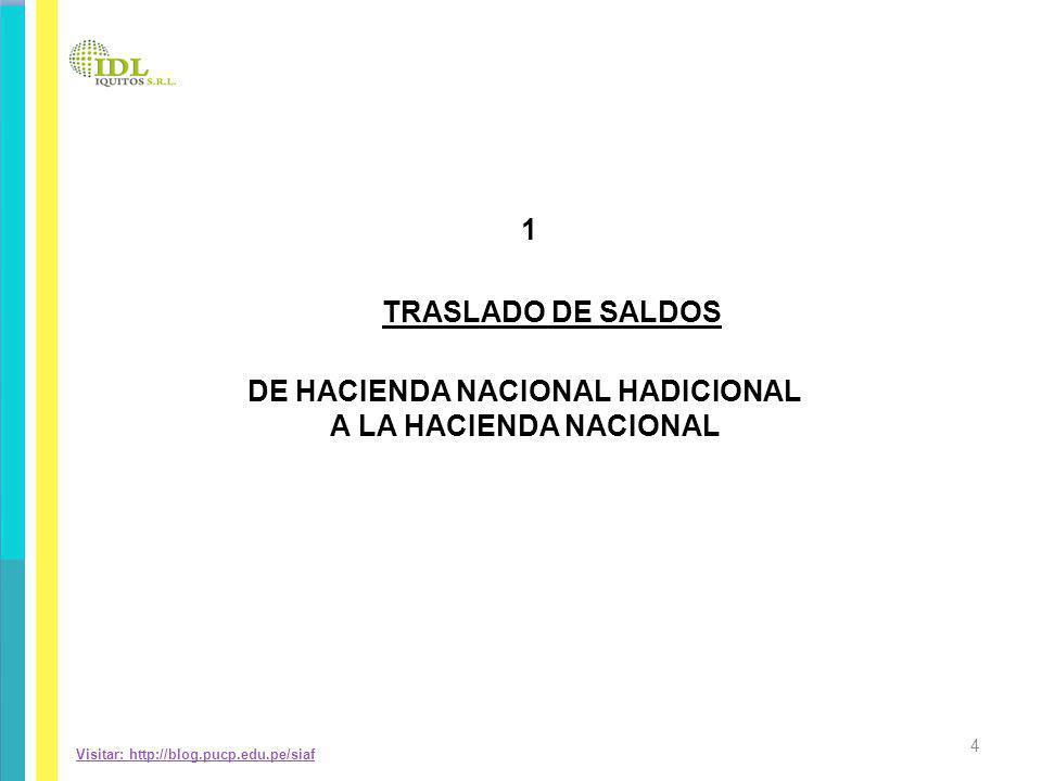 DE HACIENDA NACIONAL HADICIONAL