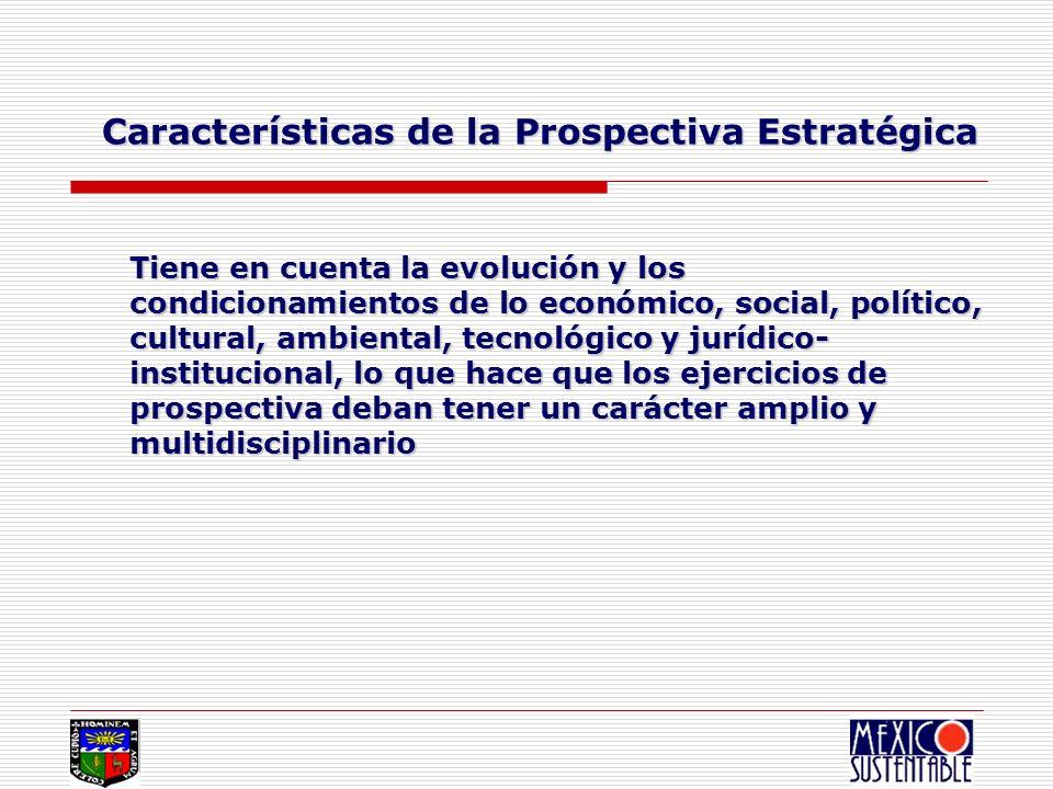Características de la Prospectiva Estratégica