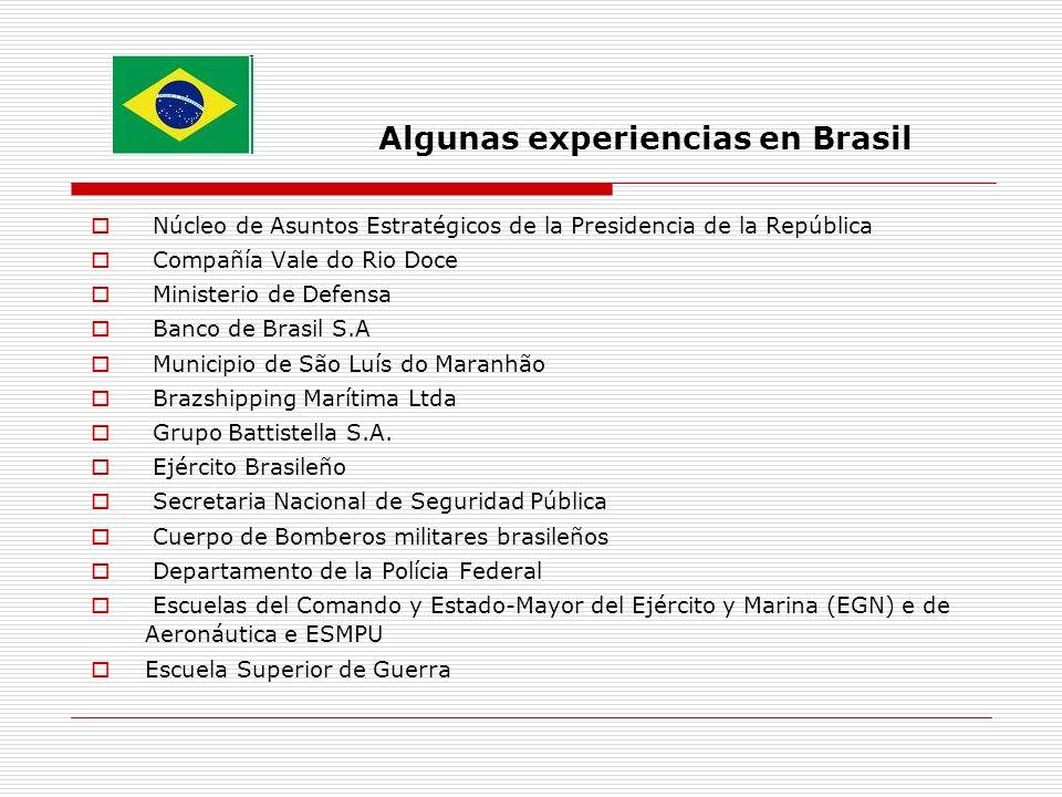Algunas experiencias en Brasil