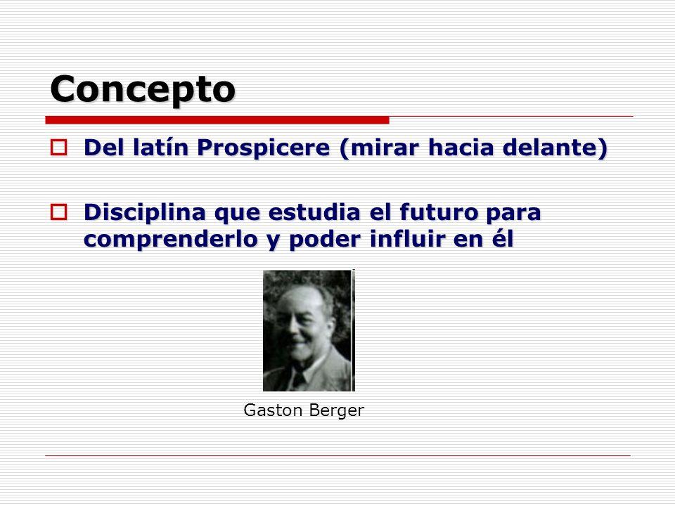 Concepto Del latín Prospicere (mirar hacia delante)