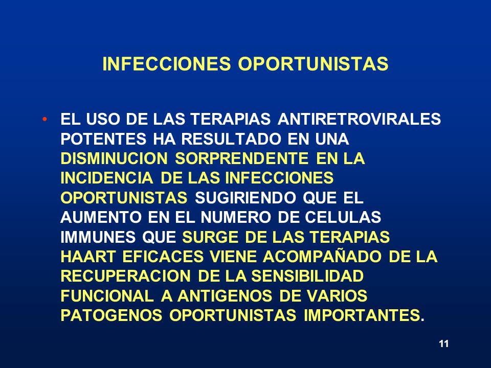 INFECCIONES OPORTUNISTAS