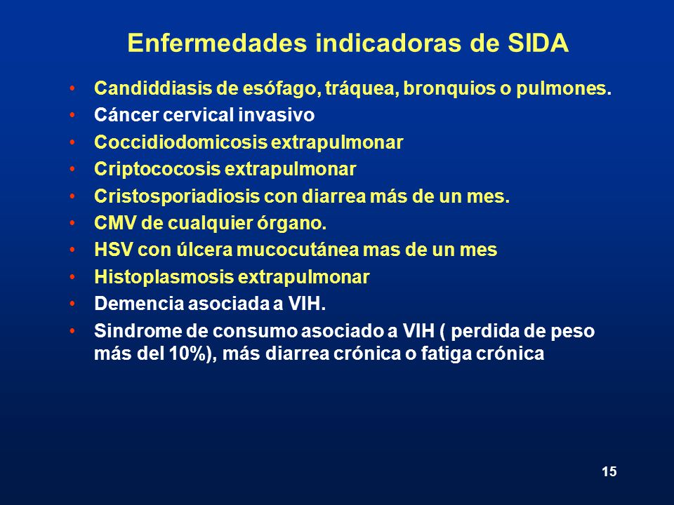 Enfermedades indicadoras de SIDA