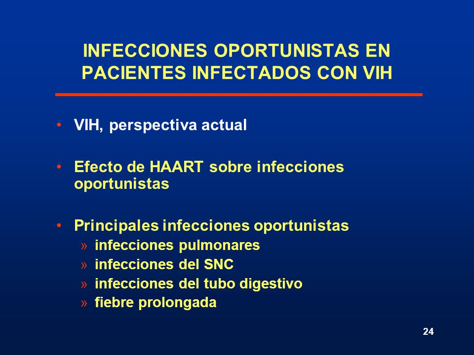 INFECCIONES OPORTUNISTAS EN PACIENTES INFECTADOS CON VIH