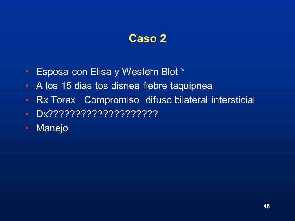 Caso 2 Esposa con Elisa y Western Blot *