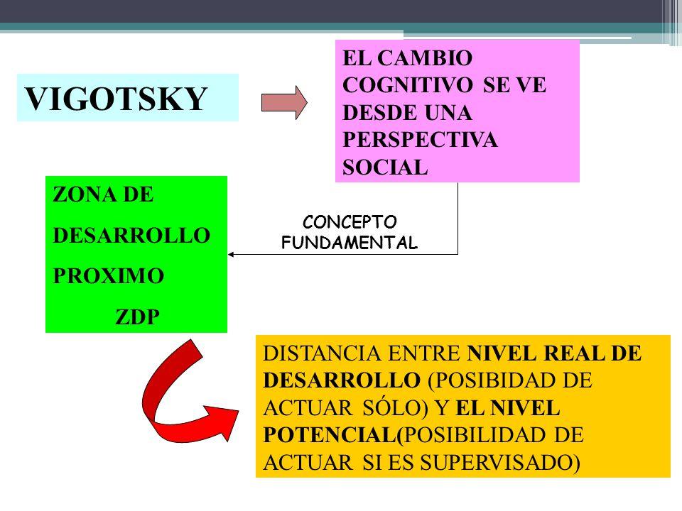 VIGOTSKY EL CAMBIO COGNITIVO SE VE DESDE UNA PERSPECTIVA SOCIAL