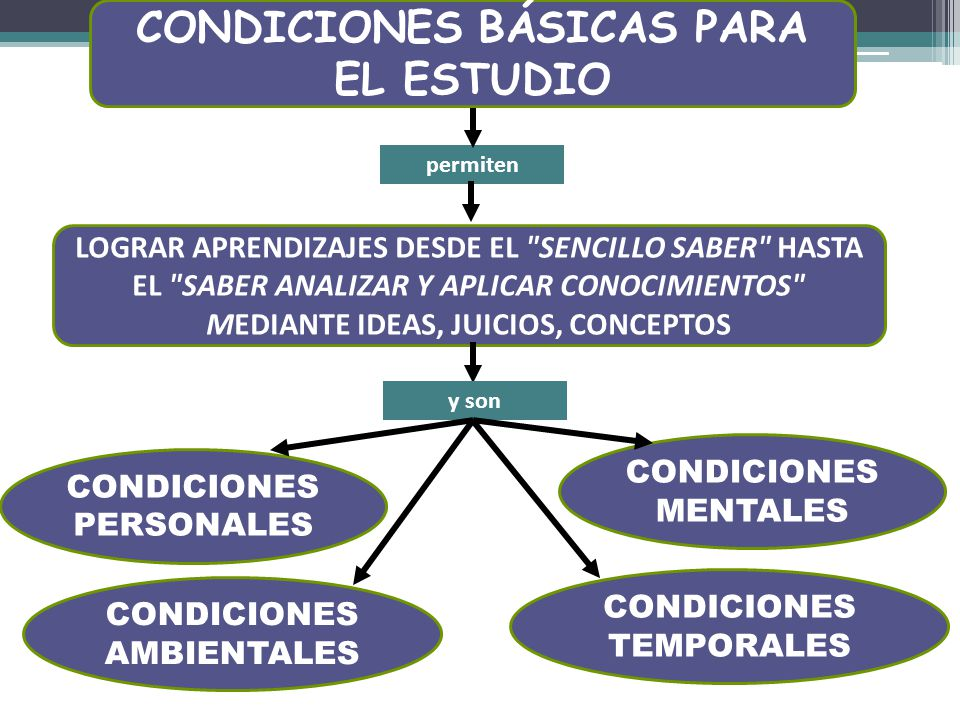 CONDICIONES BÁSICAS PARA EL ESTUDIO