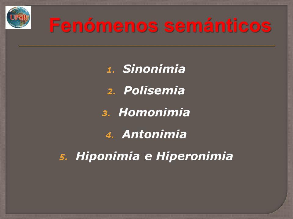 Hiponimia e Hiperonimia
