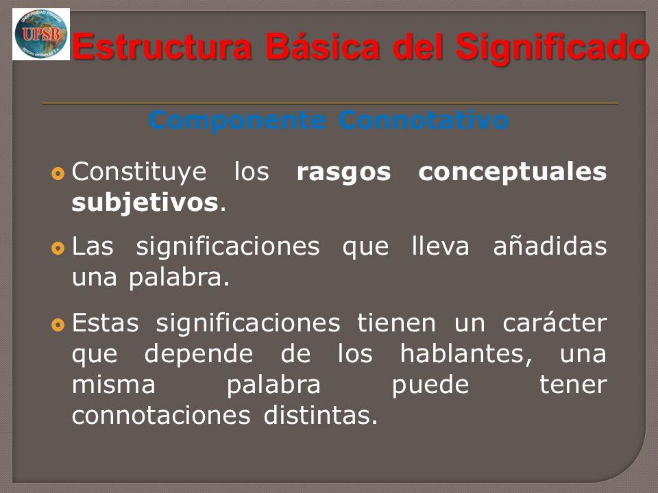 Estructura Básica del Significado Componente Connotativo