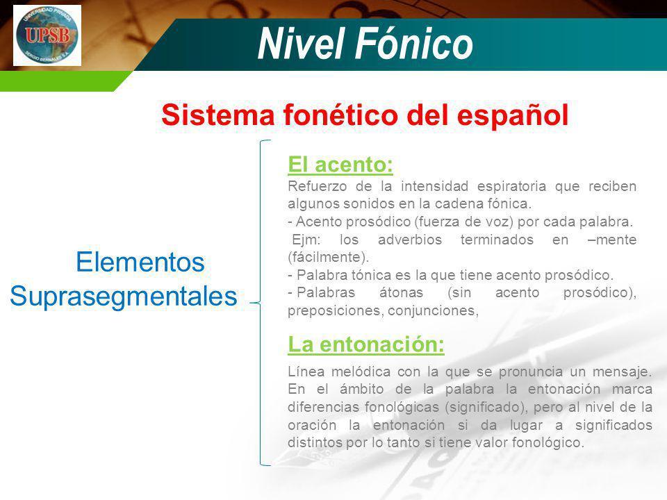 Sistema fonético del español
